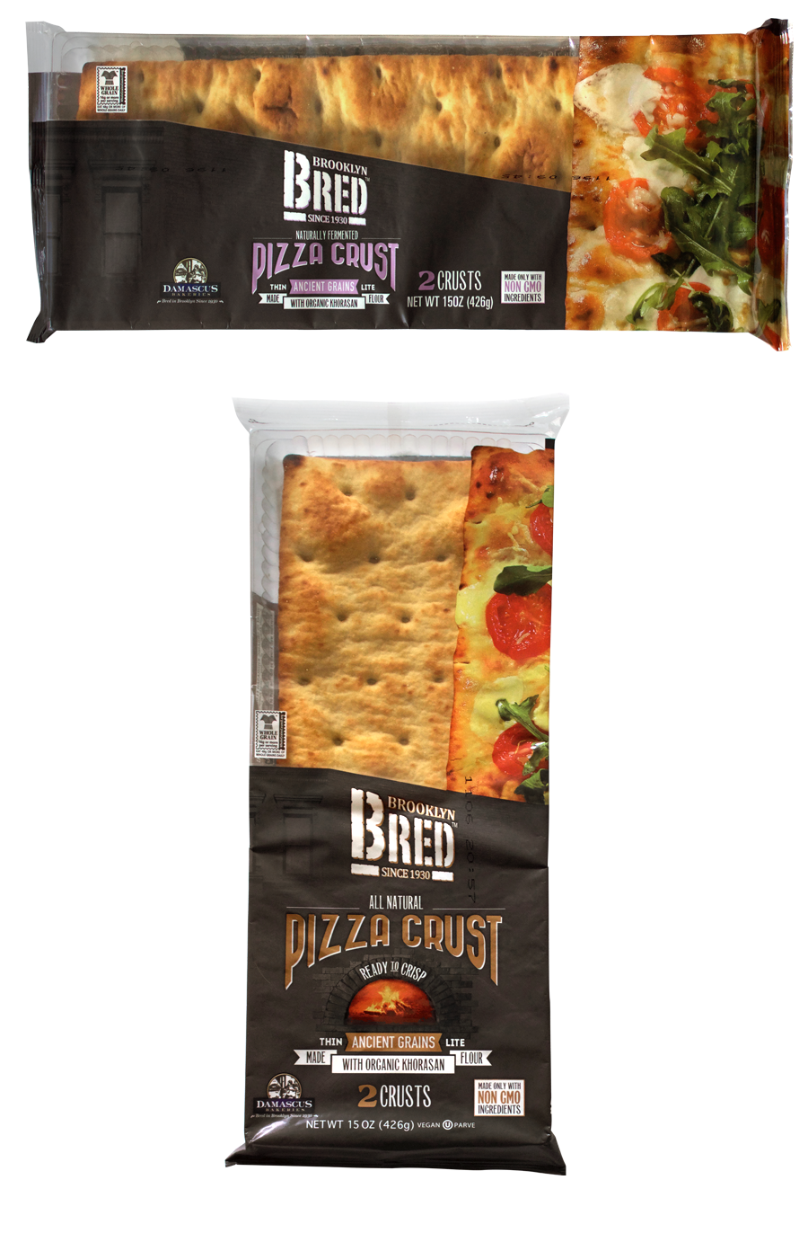 Brooklyn Bred Pizza Crust Ancient Grains Product Package